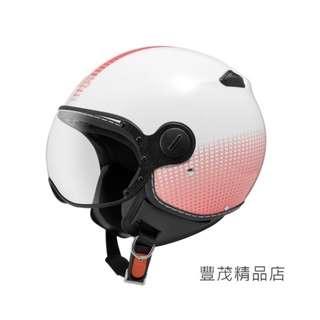 🚚 ZEUS 瑞獅 ZS 210C DD82 3/4罩 半罩 小帽體 安全帽-白/粉