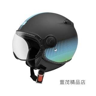 🚚 ZEUS 瑞獅 ZS 210C DD82 3/4罩 半罩 小帽體 安全帽- 消黑/綠