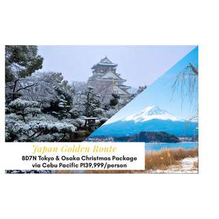 8D7N Japan Golden Route Tokyo & Osaka Christmas Package via Cebu Pacific