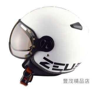 🚚 ZEUS 瑞獅 ZS-210C 210C DD11 3/4罩/半罩/小帽款/小飛俠 安全帽- 白/黑
