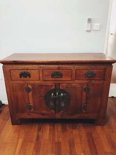 Antique Wood Chest Cabinet