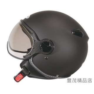 🚚 ZEUS 瑞獅 ZS-210C 210C 3/4罩/半罩/小帽款/小飛俠 安全帽- 素色 消光黑