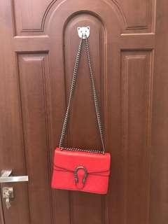 Gucci Dionysius merah Mirror quality