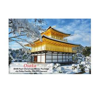 5D4N Osaka Post-Christmas Winter Package via Cebu Pacific