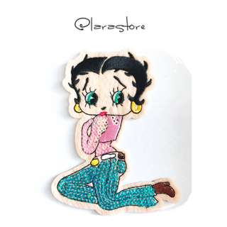 Bn sew on sequins betty boop patch