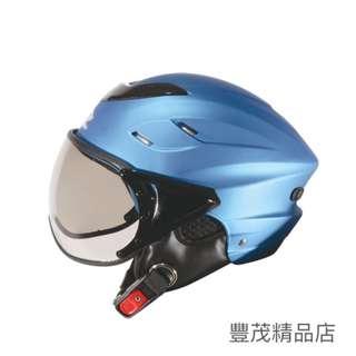 🚚 ZEUS 瑞獅 ZS-125B 125B 雪帽 半罩 飛行鏡 W鏡 內襯可拆 透氣 通風 安全帽