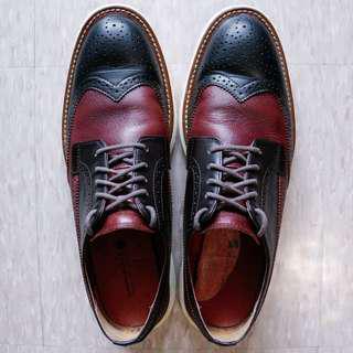 美牌 Jimmy Black 紮實真皮牛津鞋