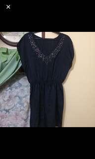 Silk detailed dress