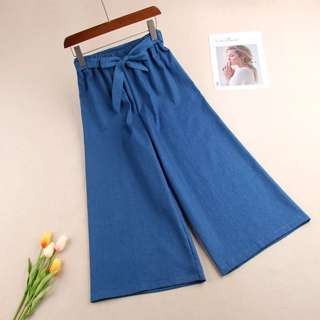 <Back to School Series> Casual in Denim Culottes