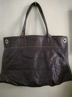 Alberto leather tote bag - Authentic