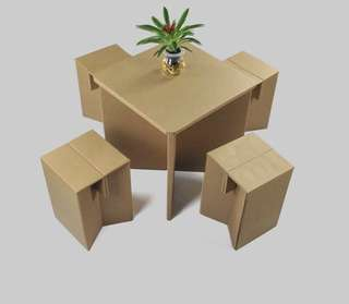 Paper Table With Chair Set