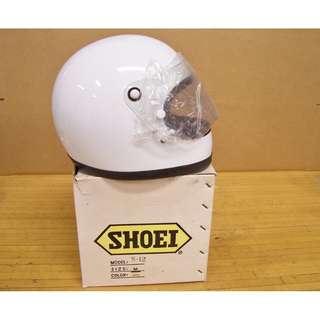 Vintage NOS Shoei S12 S 12 Motorcycle Full Face White Helmet Medium