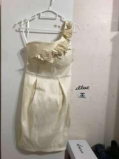 Forcast cream dress