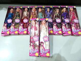 Barbie with beautiful dresses