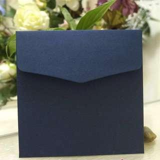 Premium Navy Blue Square Envelope 16.5cm x 16.5cm