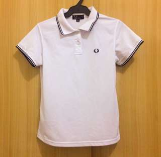 authentic fred perry woman white polo top