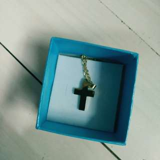 Stainless Gold Cross Necklace