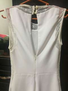 ZARA cream dress