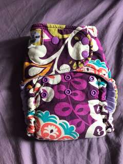 Purple Hybrid Cloth Diaper