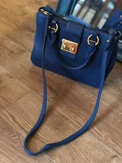 Miu Miu leather lock shoulder bag