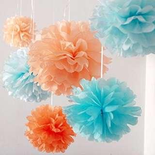 [INSTOCK] Tissue/ Paper Pompoms ✨💕🎉