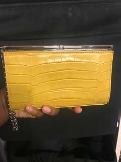 Oroton leather clutch