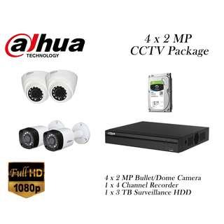 Dahua 4 x 2 Megapixels CCTV