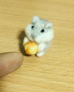 Needle felted Hamster,Home Decor, Felted Animal, miniature, handmade gift, Interior decor