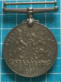 WW2 KIng George IV Defence Medal 1945