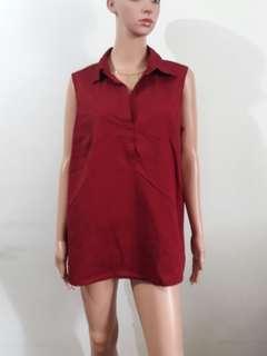 (L-XL) Lane Bryant maroon sleeveless top