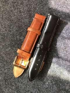 [正版] DW皮錶帶18mm 啡色 + 黑色