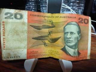 Australian Twenty Dollar note.
