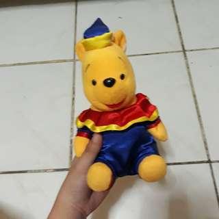 Winnie the Pooh Clown Costume Stuffed Toy