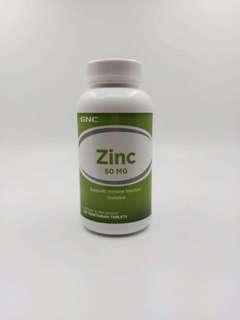 美国GNC鋅片,zinc,健安喜葡萄酸锌片50mg250片