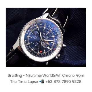Breitling - Navitimer World GMT, Blue Dial Chronograph 46m