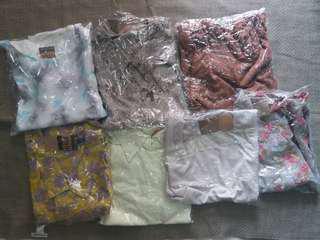 (Get 10 Pcs) Paket Usaha Blouse Wanita Import Grade B