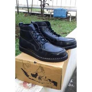 Sepatu Original Brodo – Beta Full Black (Size 43)