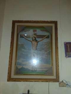 Lukisan lampu salib yesus kristus tuhan