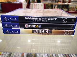 Ps4 Games 3pcs preowned rm120 free postage 0124140307 WhatsApp