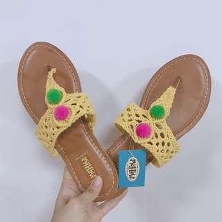 🚚 美國購入民族風編織拖鞋涼鞋