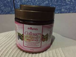 Droplets collagen  lightening body scrub