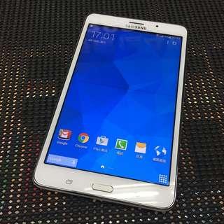 售三星Tab 4 7.0 LTE 1.5G/8G 可通話 白色(No discount)