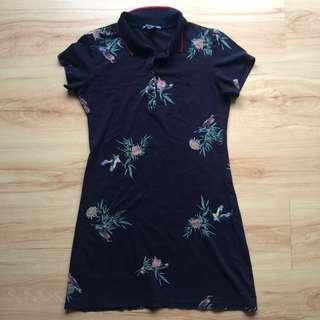 Bodycon shirt dress