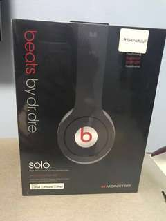 Beats By Dr Dre Solo (Sealed- Brand new) Wired