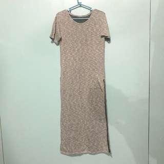 long slit cotton dress