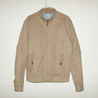 Esprit Waxed Harrington Jacket in Beige