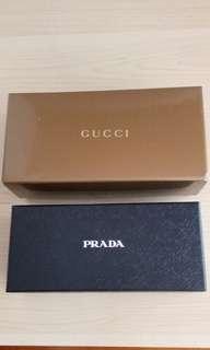 全新Gucci ,Prada眼鏡盒(紙)
