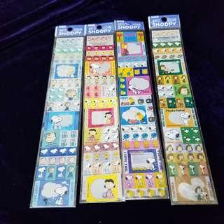 Snoopy 貼紙 (全,共4張)