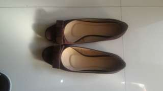 Parisian low-heeled shoes(brown)