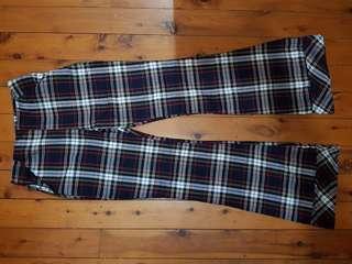 Pretty Little Thing Tartan Flare Trousers